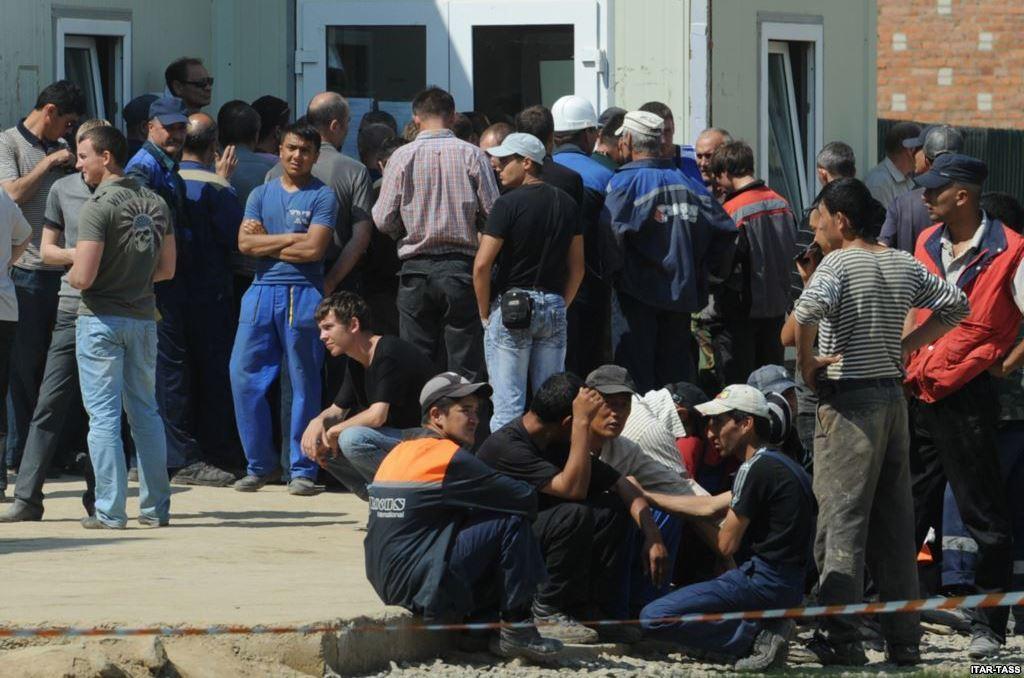 Таджикские трудовые мигранты в России
