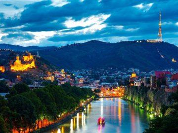 Тбилиси ночной. Грузия