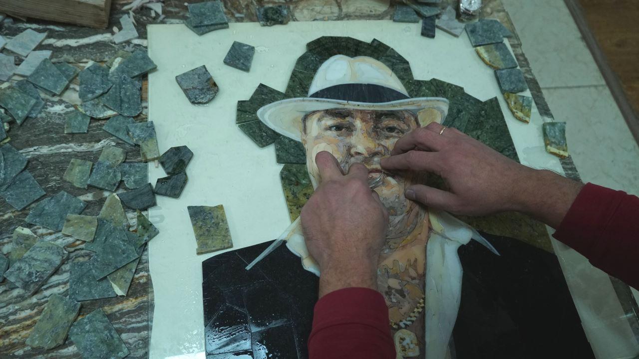 Флорентийская мозаика в Таджикистане