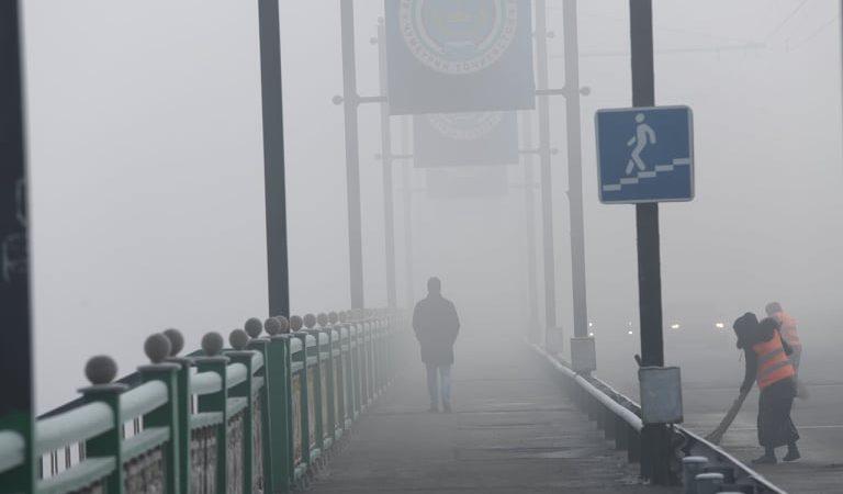 «Туманный Альбион». Душанбе надолго оказался во власти тумана
