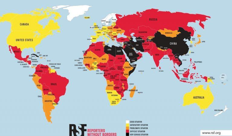 «Репортеры без границ» выделили Таджикистан черным цветом. Объясняем, что это означает